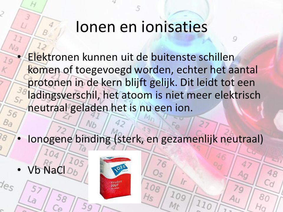 Ionen en ionisaties