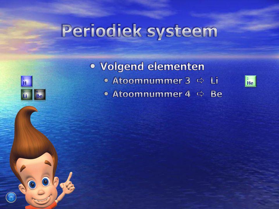 Periodiek systeem Volgend elementen Atoomnummer 3  Li
