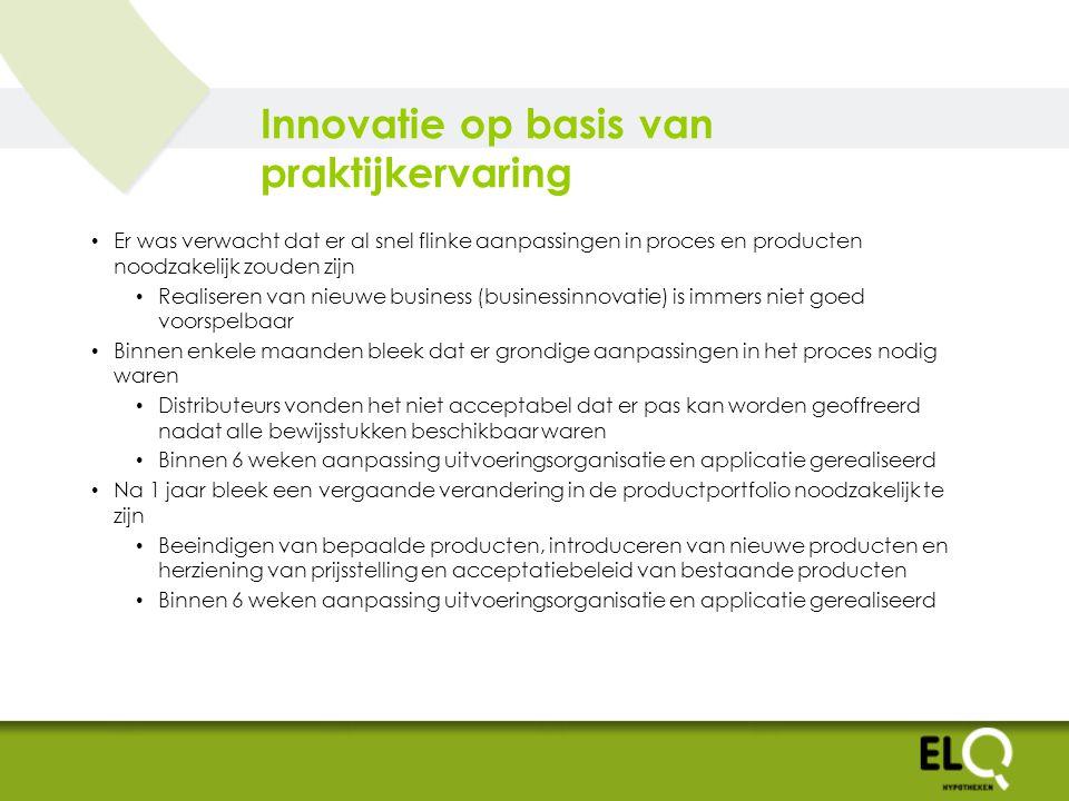 Innovatie op basis van praktijkervaring