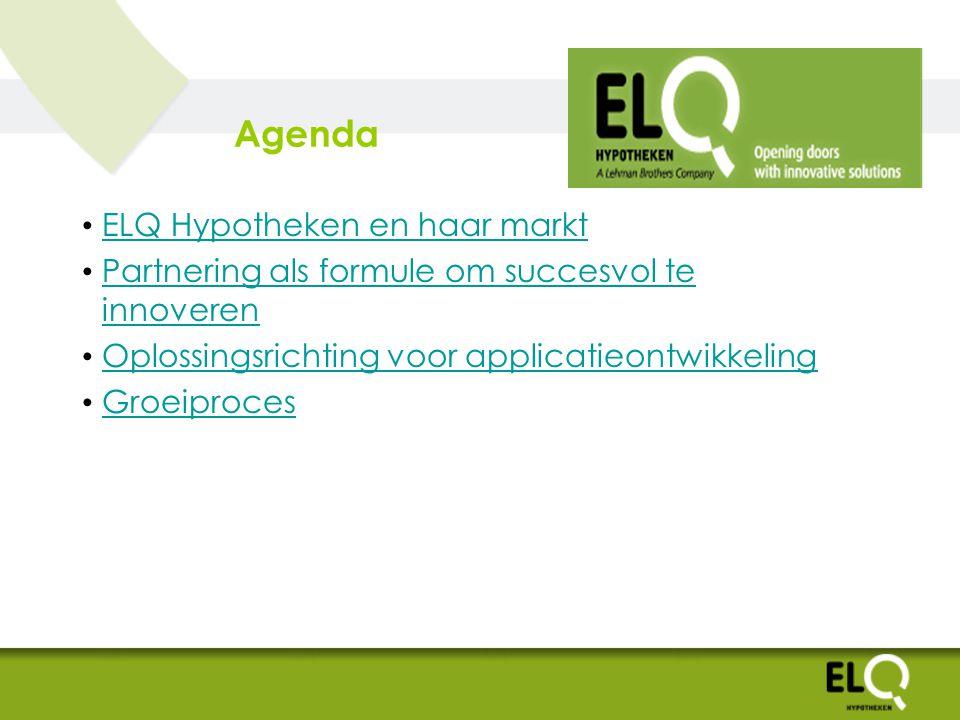 Agenda ELQ Hypotheken en haar markt