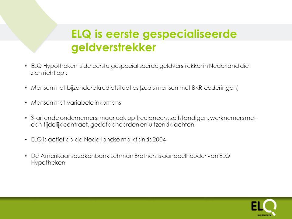 ELQ is eerste gespecialiseerde geldverstrekker