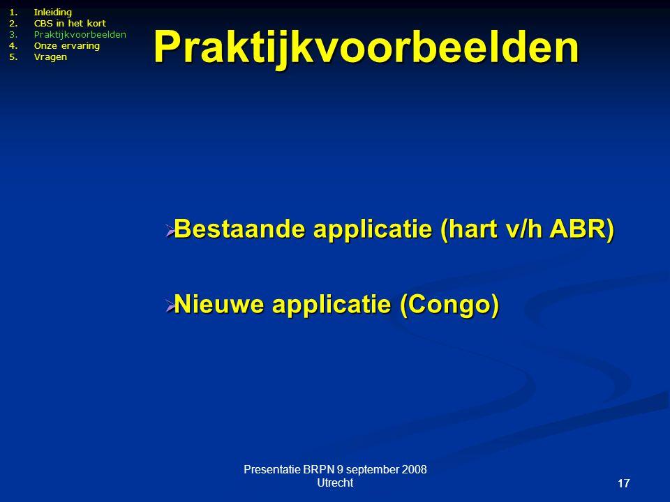 Presentatie BRPN 9 september 2008 Utrecht
