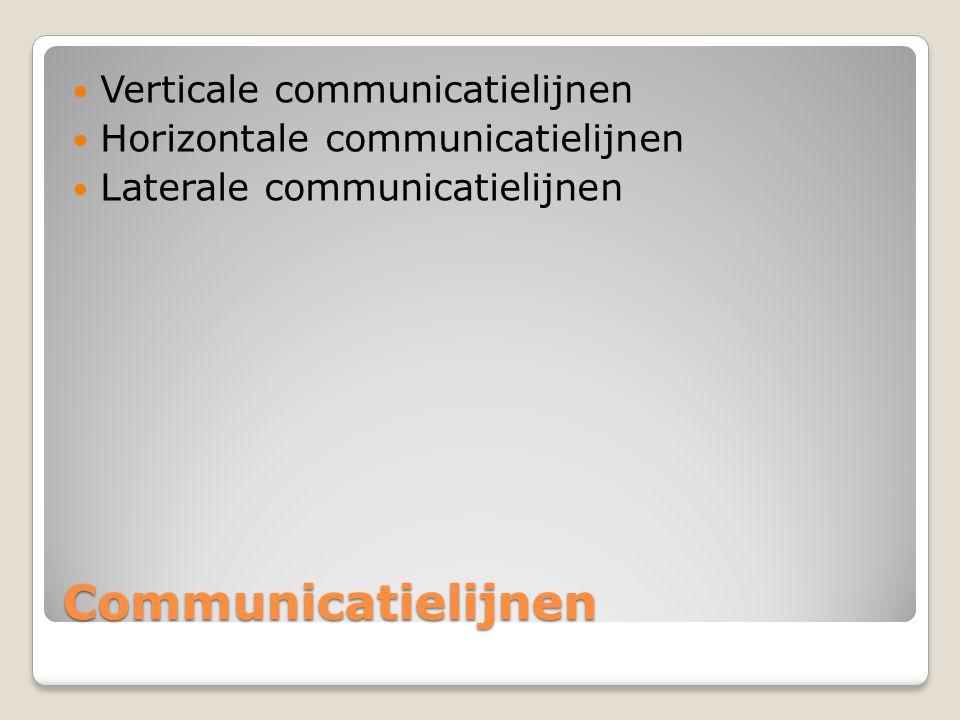Communicatielijnen Verticale communicatielijnen