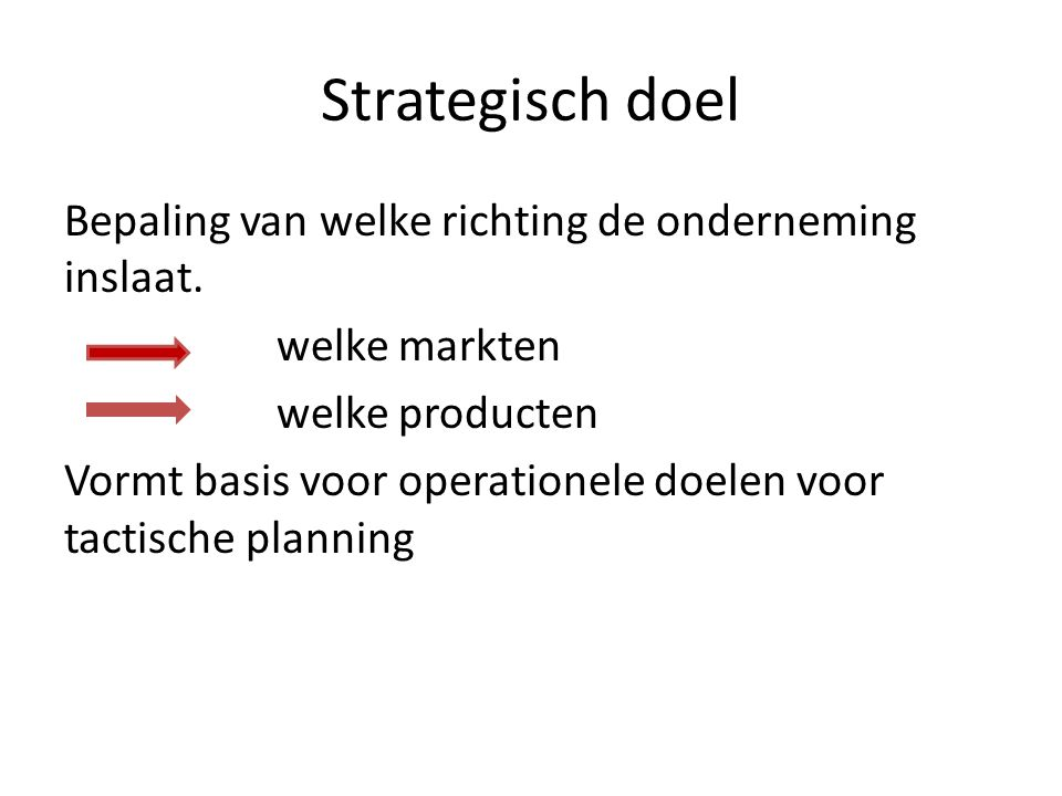 Strategisch doel