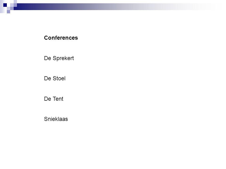 Conferences De Sprekert De Stoel De Tent Snieklaas
