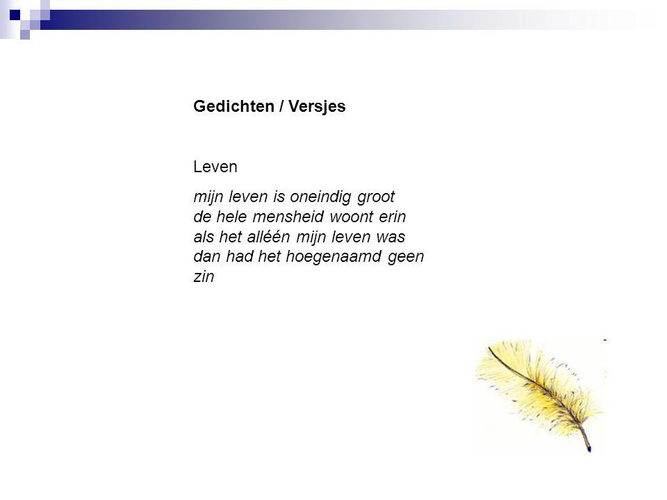 Gedichten / Versjes Leven.