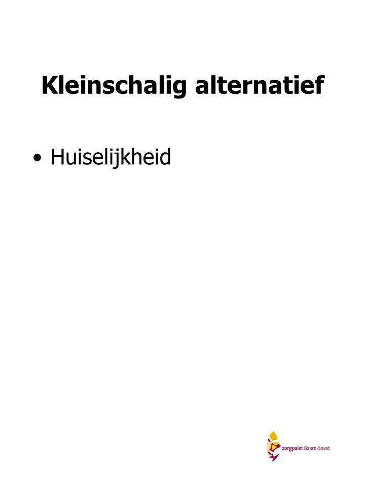 Kleinschalig alternatief