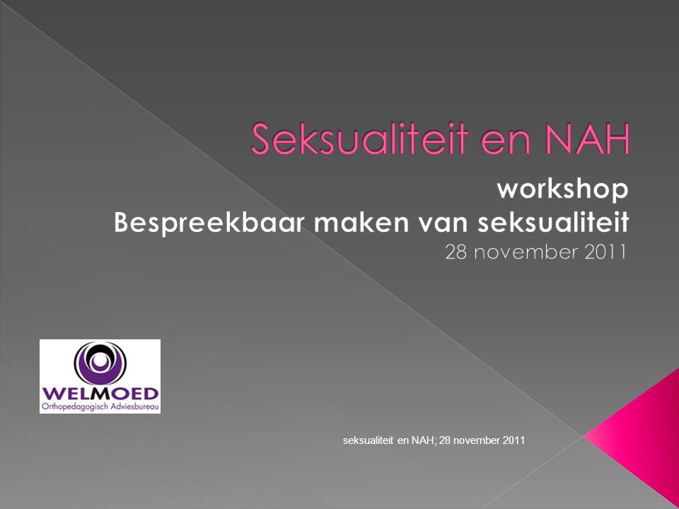 workshop Bespreekbaar maken van seksualiteit 28 november 2011