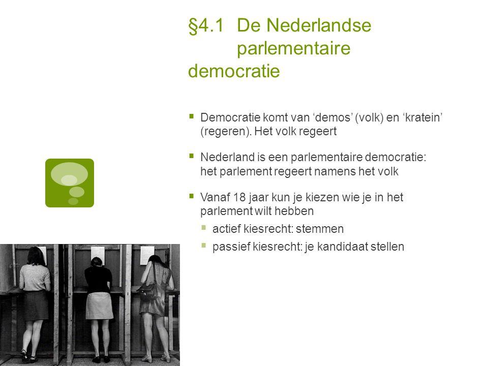§4.1 De Nederlandse parlementaire democratie
