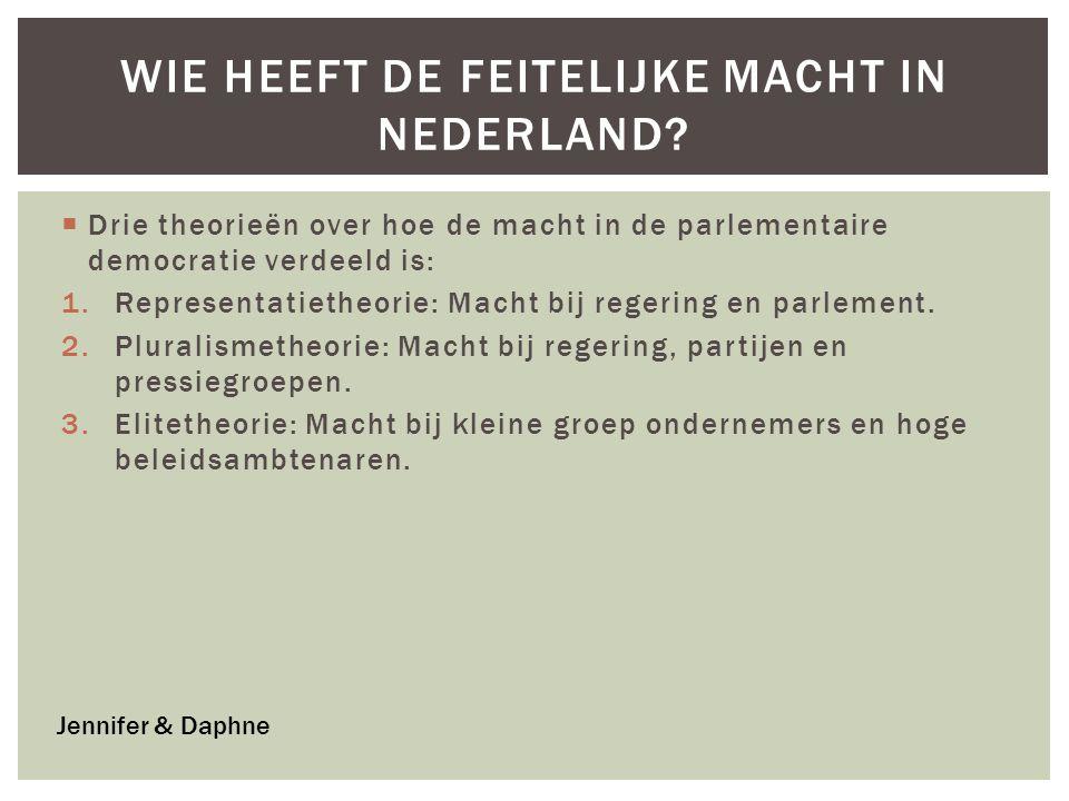 Wie heeft de feitelijke macht in Nederland