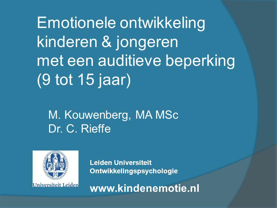Emotionele ontwikkeling kinderen & jongeren
