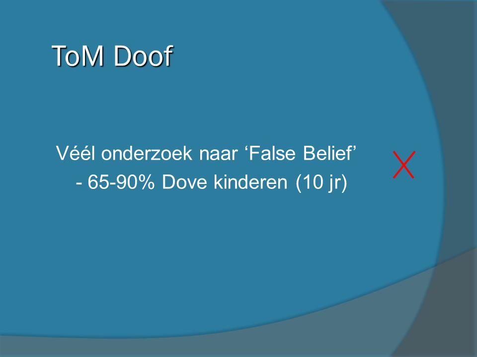 ToM Doof Véél onderzoek naar 'False Belief'