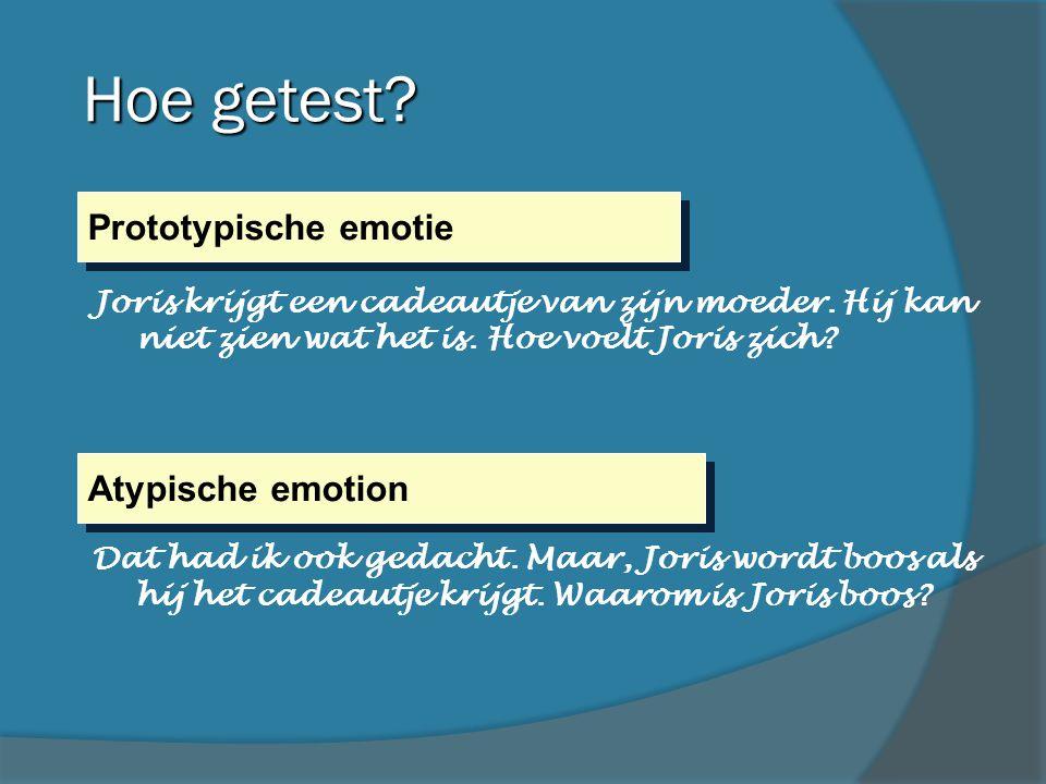 Hoe getest Prototypische emotie Atypische emotion