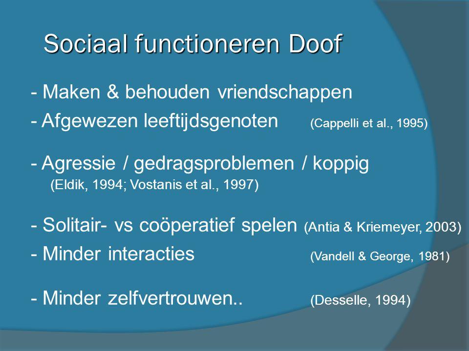 Sociaal functioneren Doof