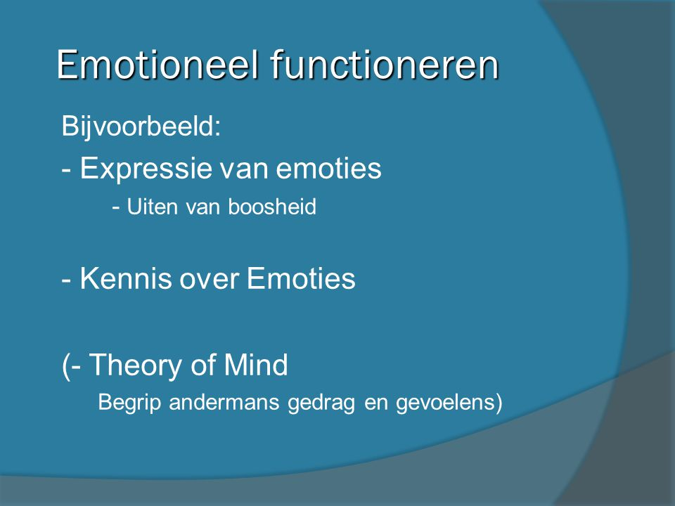 Emotioneel functioneren