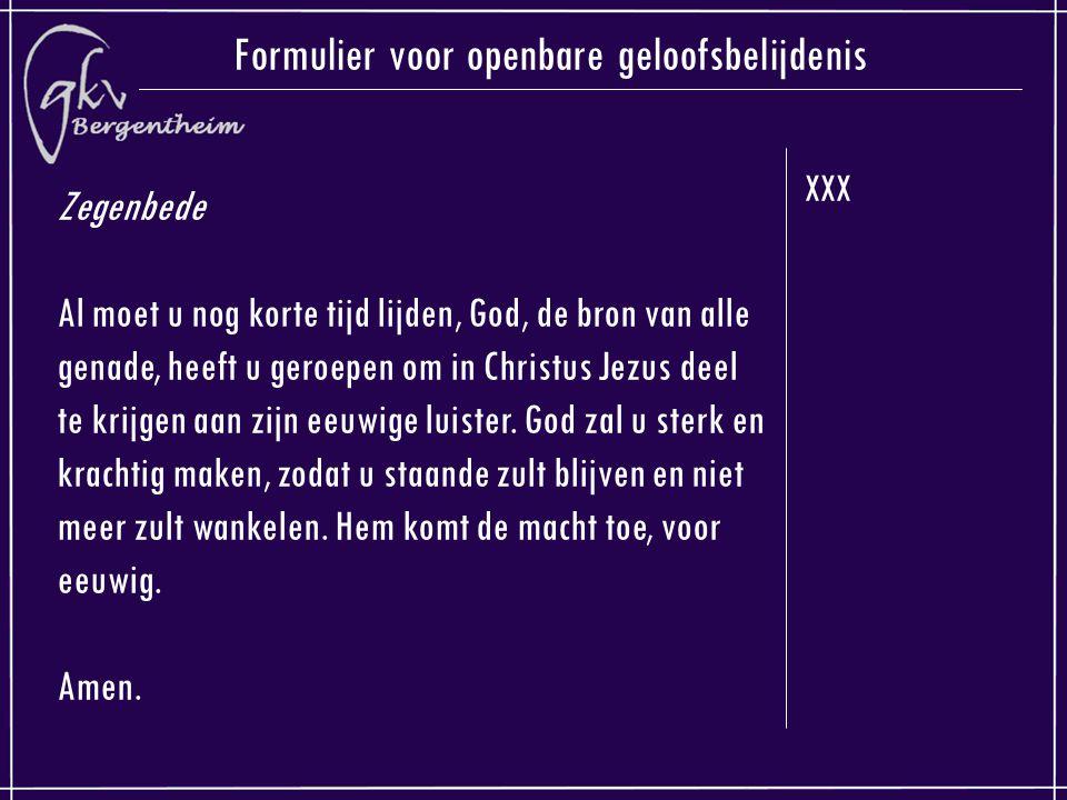 Formulier voor openbare geloofsbelijdenis