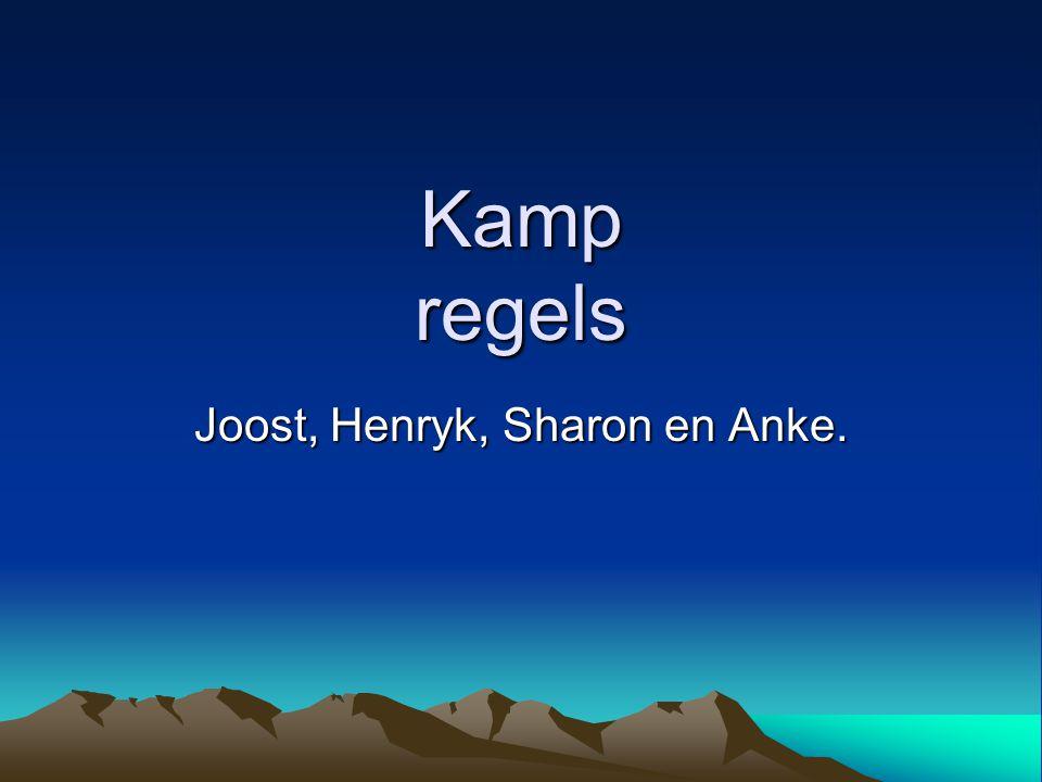 Joost, Henryk, Sharon en Anke.