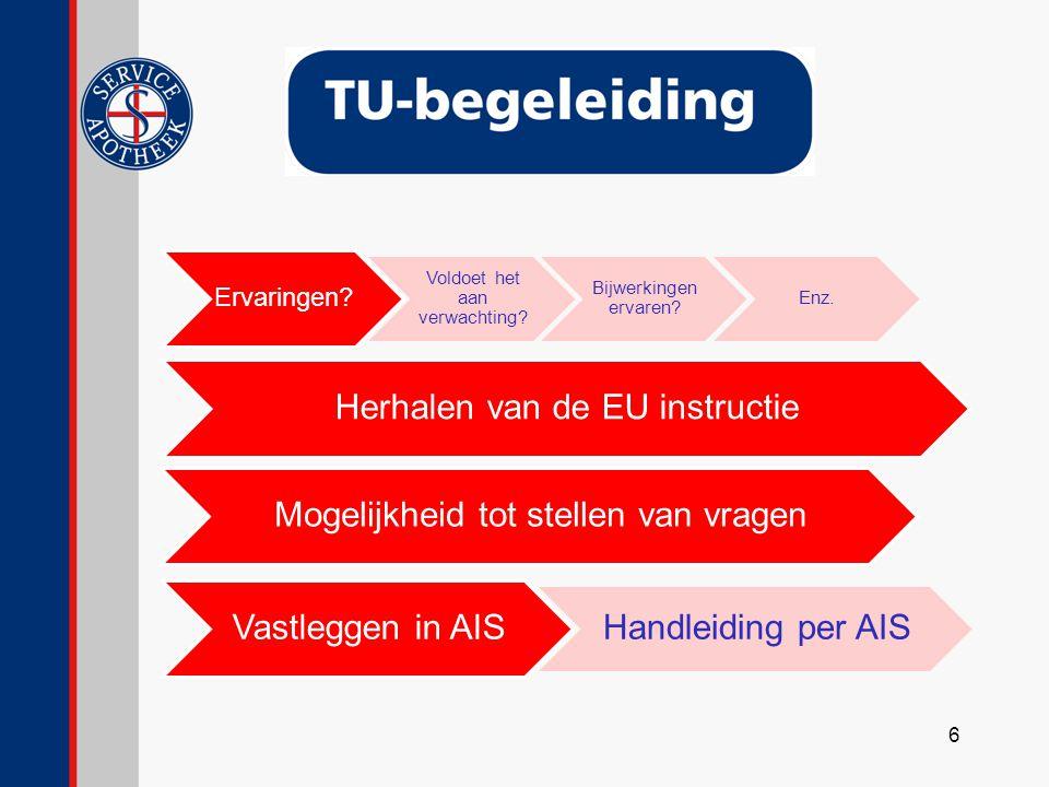 Herhalen van de EU instructie