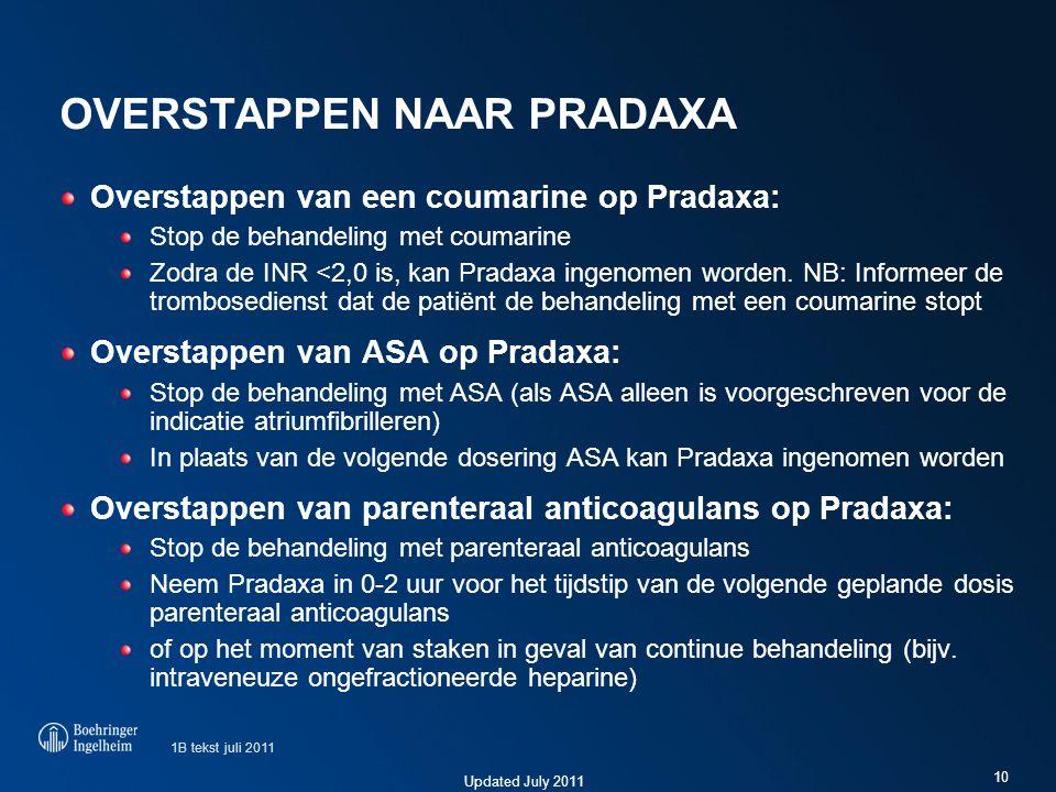 Overstappen naar Pradaxa