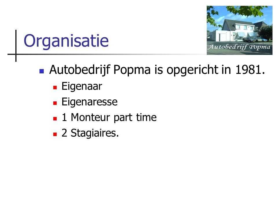 Organisatie Autobedrijf Popma is opgericht in 1981. Eigenaar