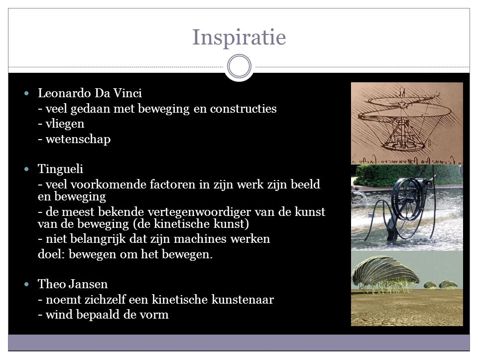 Inspiratie Leonardo Da Vinci