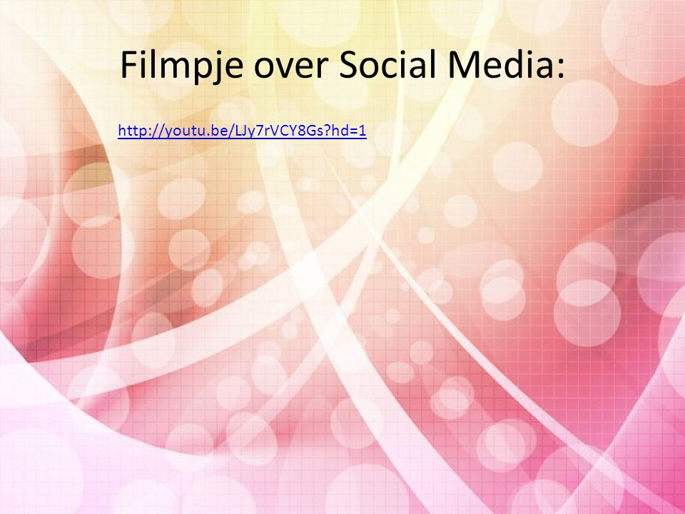Filmpje over Social Media: