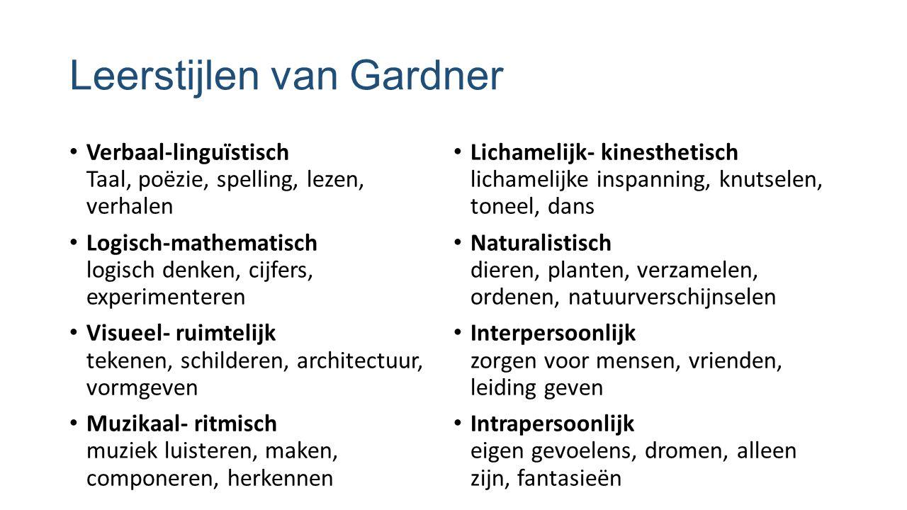Leerstijlen van Gardner