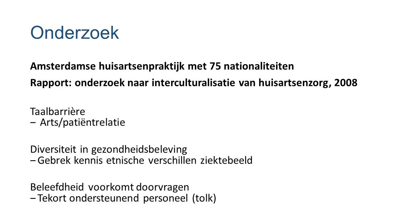 Onderzoek Amsterdamse huisartsenpraktijk met 75 nationaliteiten