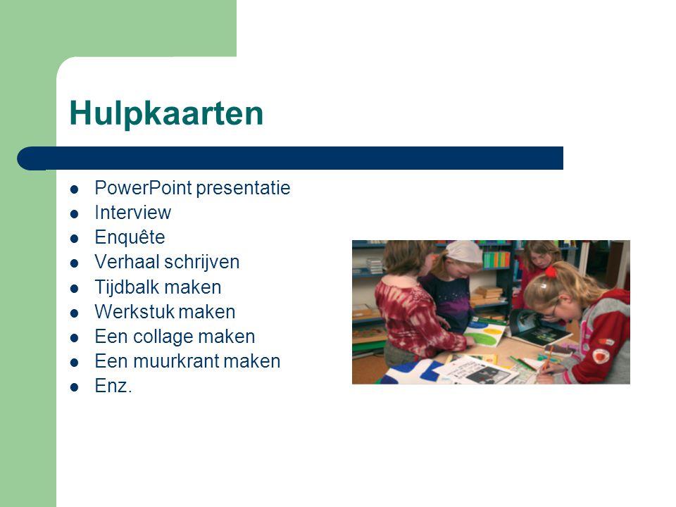Hulpkaarten PowerPoint presentatie Interview Enquête Verhaal schrijven