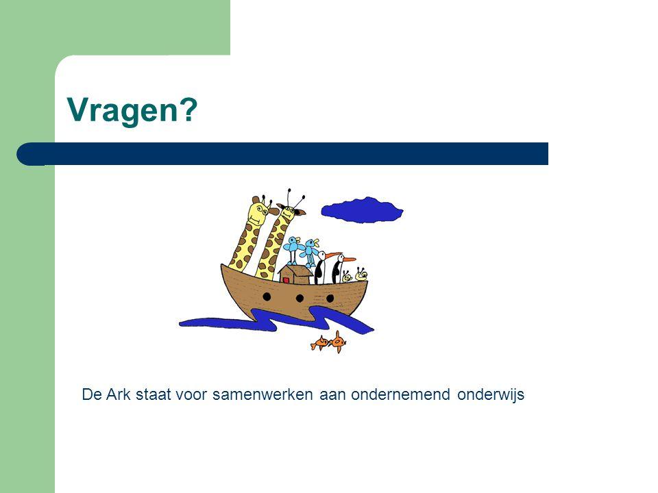 Vragen De Ark staat voor samenwerken aan ondernemend onderwijs