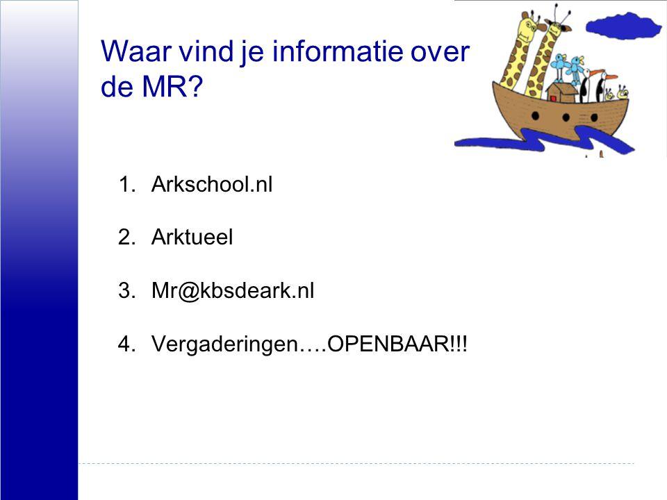 Waar vind je informatie over de MR