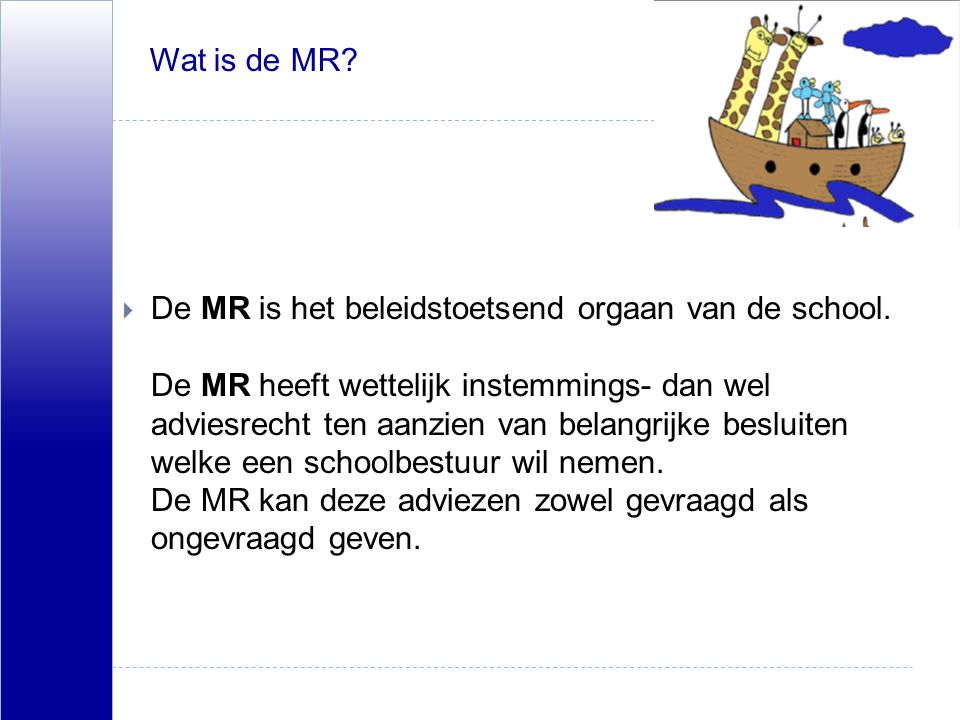 Wat is de MR