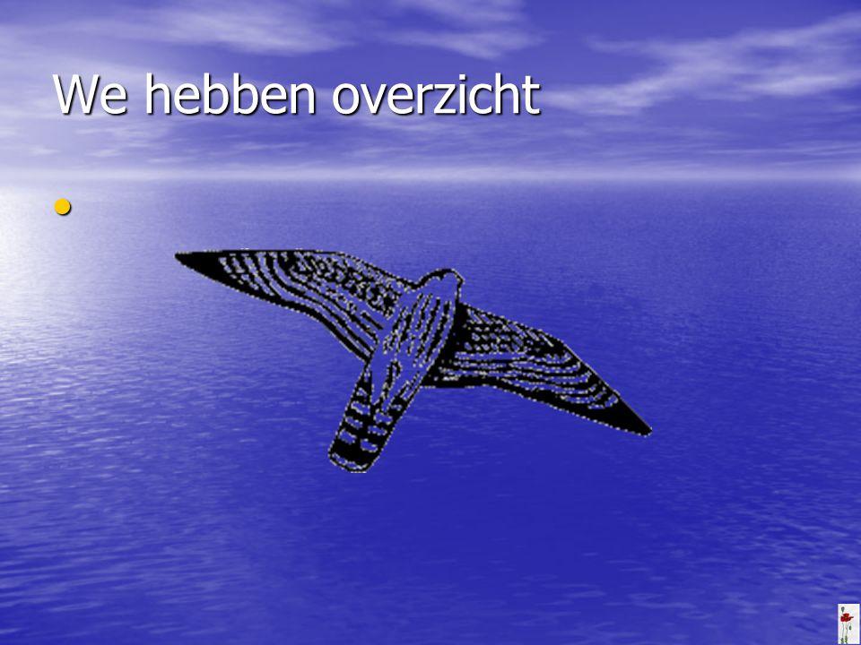 We hebben overzicht Geen vogel vliegt te hoog als hij met zijn eigen vleugels vliegt. William Blake.