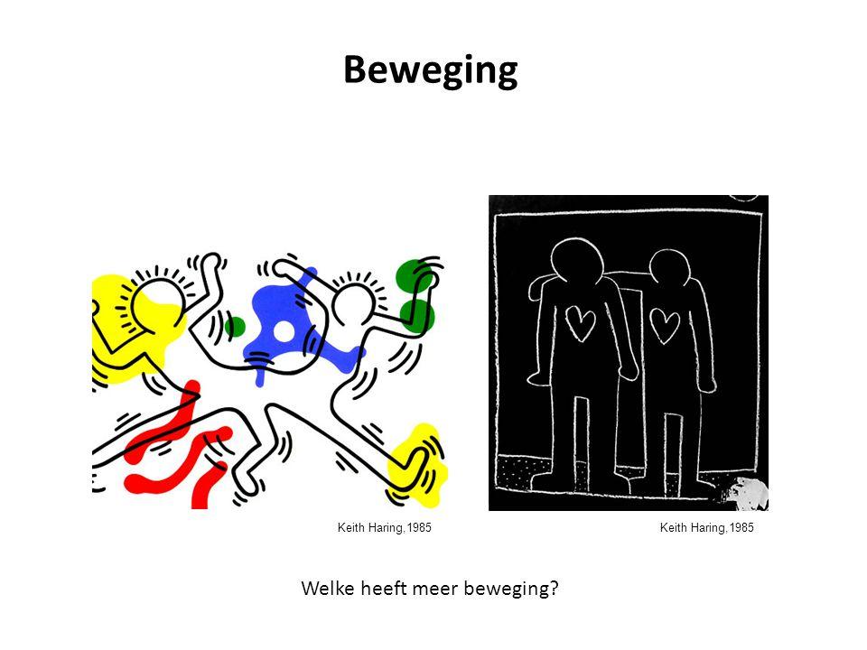 Beweging Welke heeft meer beweging Keith Haring,1985
