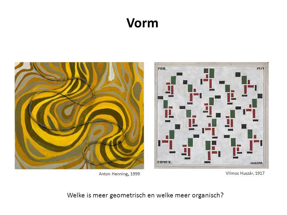 Vorm Welke is meer geometrisch en welke meer organisch