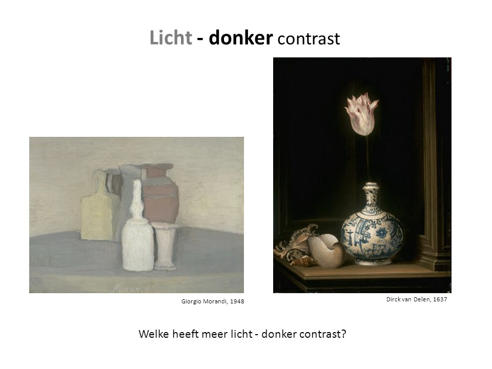 Licht - donker contrast
