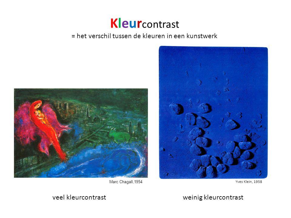 = het verschil tussen de kleuren in een kunstwerk