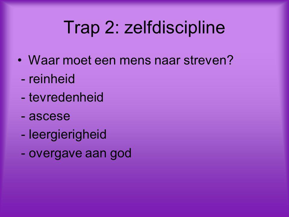 Trap 2: zelfdiscipline Waar moet een mens naar streven - reinheid