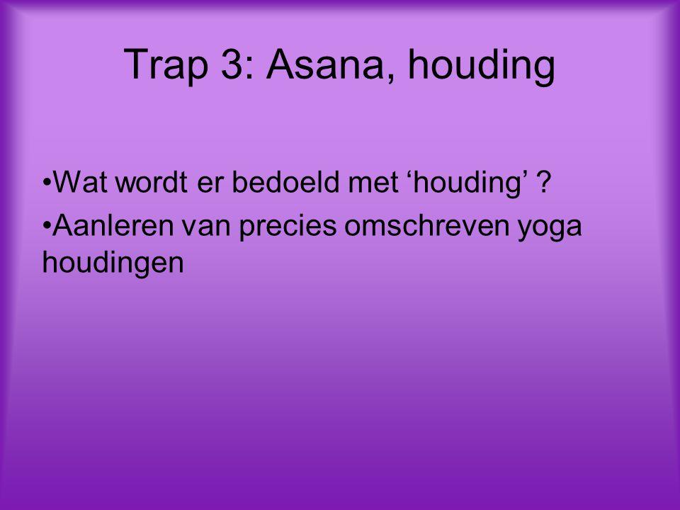 Trap 3: Asana, houding Wat wordt er bedoeld met 'houding'