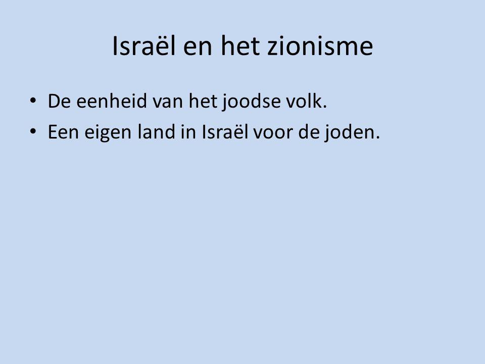 Israël en het zionisme De eenheid van het joodse volk.
