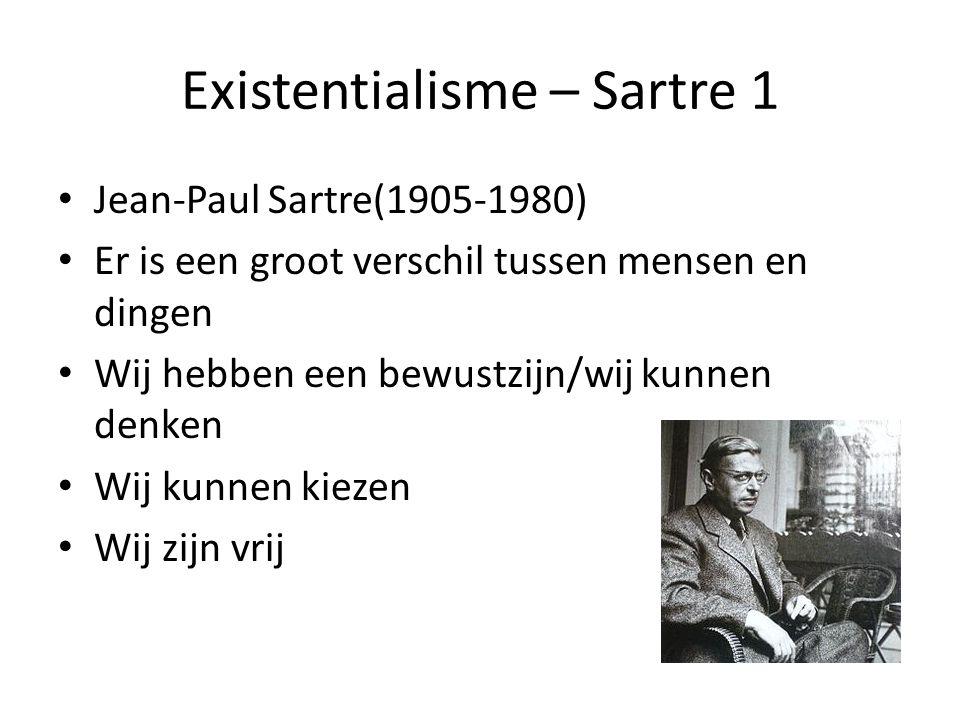 Existentialisme – Sartre 1