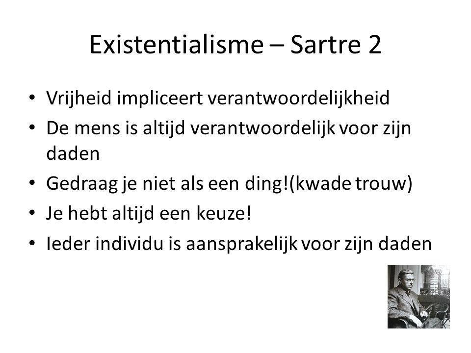 Existentialisme – Sartre 2