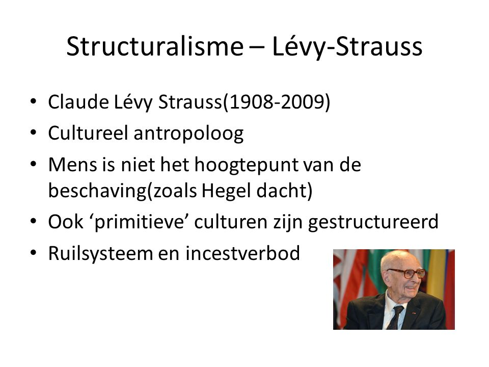 Structuralisme – Lévy-Strauss