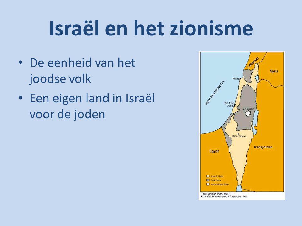 Israël en het zionisme De eenheid van het joodse volk