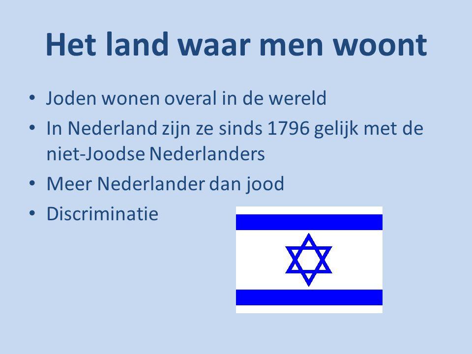 Het land waar men woont Joden wonen overal in de wereld