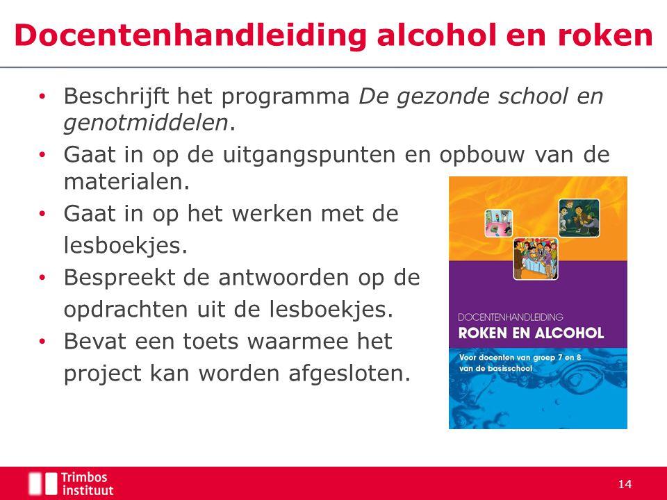 Docentenhandleiding alcohol en roken