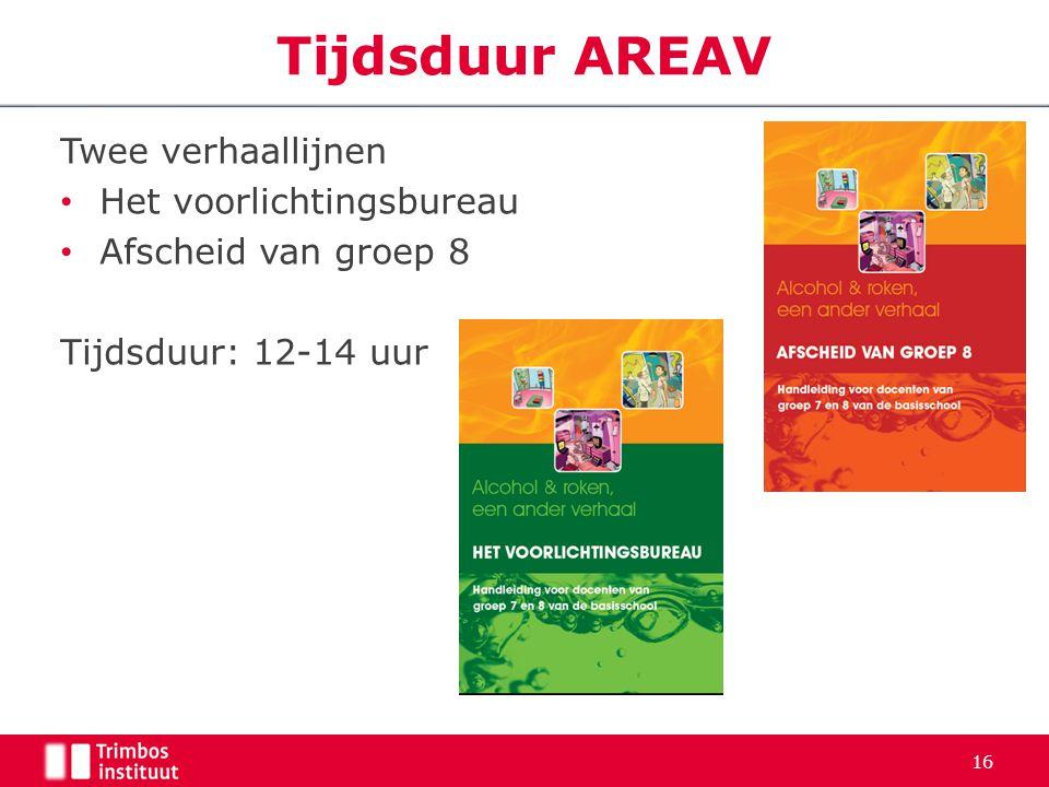 Tijdsduur AREAV Twee verhaallijnen Het voorlichtingsbureau