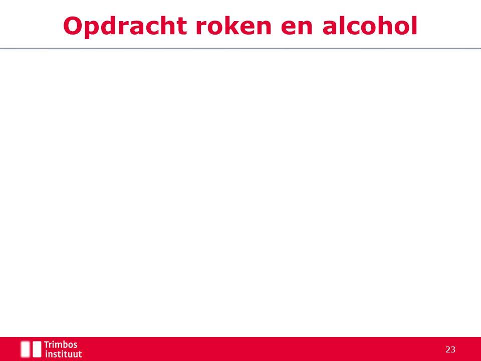 Opdracht roken en alcohol