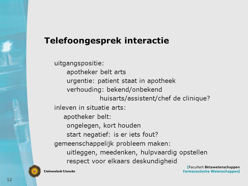 Telefoongesprek interactie