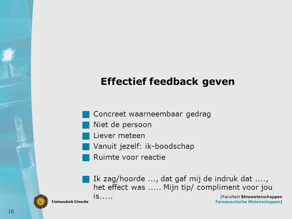 Effectief feedback geven